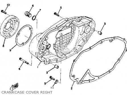 Yamaha Tx500 1973 Usa Crankcase Cover Right