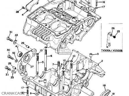 Yamaha Tx500 1973 Usa Crankcase