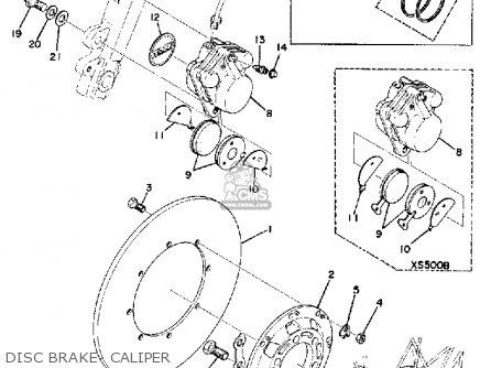 Yamaha Tx500 1973 Usa Disc Brake- Caliper