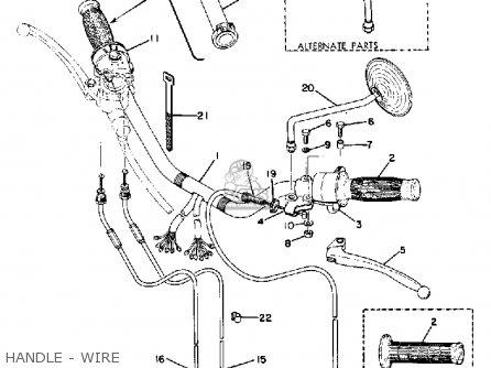 Yamaha Tx500 1973 Usa Handle - Wire
