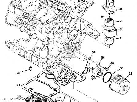 Yamaha Tx500 1973 Usa Oil Pump - Oil Cleaner