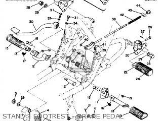 Yamaha Tx500 1973 Usa Stand - Footrest - Brake Pedal