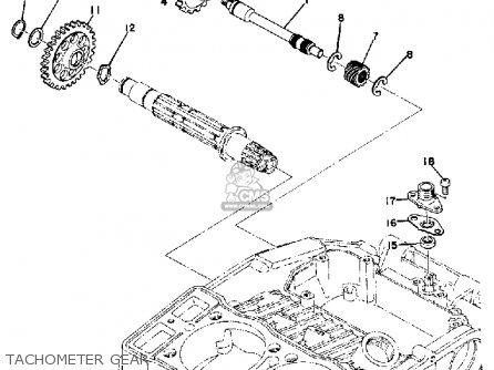 Yamaha Tx500 1973 Usa Tachometer Gear