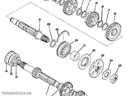 Yamaha Tx500 1973 Usa Transmission