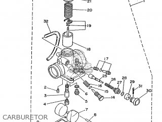 Yamaha Ty125 1989 3su1 France 293su-351f1 Carburetor