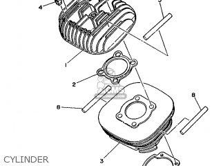 Yamaha Ty125 1989 3su1 France 293su-351f1 Cylinder