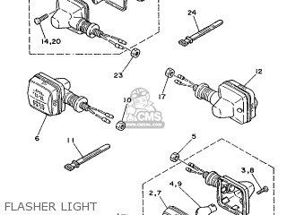 Yamaha Ty125 1989 3su1 France 293su-351f1 Flasher Light