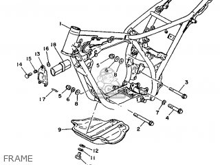 Yamaha Ty125 1989 3su1 France 293su-351f1 Frame