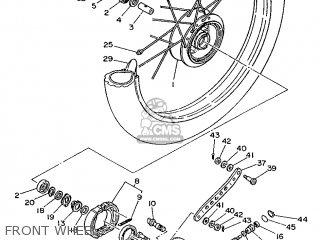 Yamaha Ty125 1989 3su1 France 293su-351f1 Front Wheel