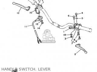 Yamaha Ty125 1989 3su1 France 293su-351f1 Handle Switch  Lever