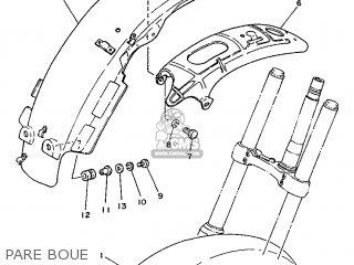 Yamaha Ty125 1989 3su1 France 293su-351f1 Pare Boue