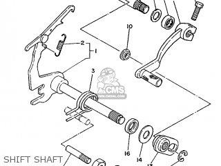 Yamaha Ty125 1989 3su1 France 293su-351f1 Shift Shaft