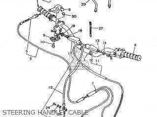 Yamaha Ty125 1989 3su1 France 293su-351f1 Steering Handle  Cable