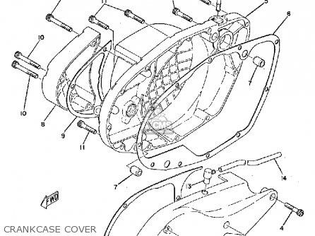 Yamaha Ty250 1974 Usa Crankcase Cover