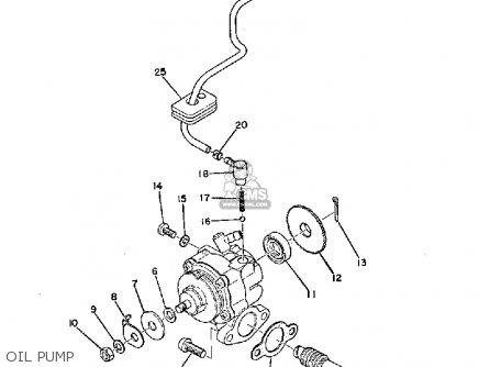 Yamaha Ty250 1974 Usa Oil Pump