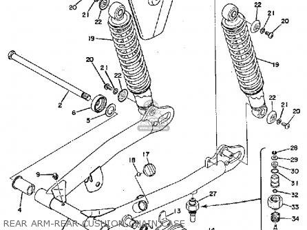 Yamaha Ty250 1974 Usa Rear Arm-rear Cushion-chain Case