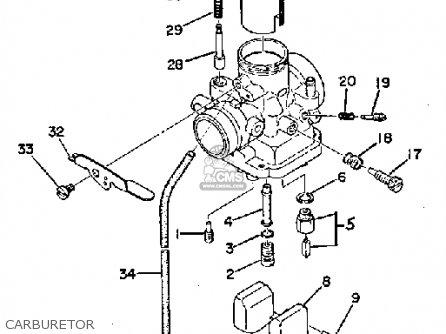 Yamaha Ty250a 1974 Carburetor