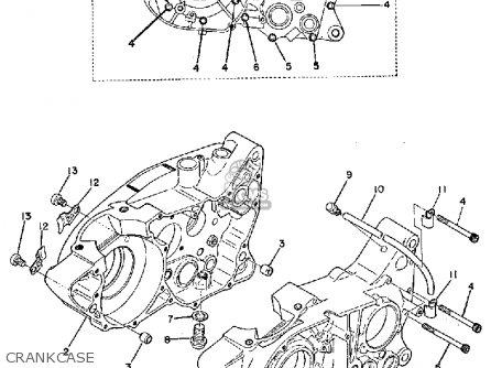 Yamaha Ty250a 1974 Crankcase