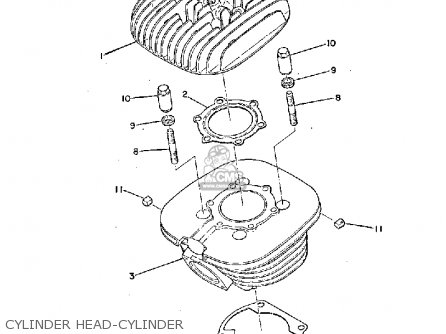 Yamaha Ty250a 1974 Cylinder Head-cylinder