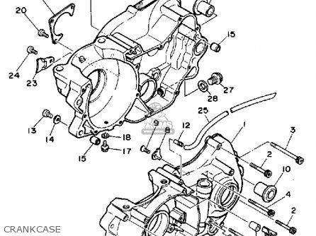 Yamaha Ty350 1986 g Usa Crankcase