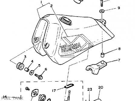 Yamaha Ty350 1986 g Usa Fuel Tank