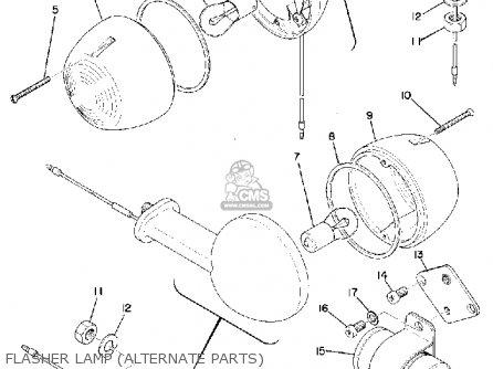 Yamaha U7e 1969 Flasher Lamp alternate Parts