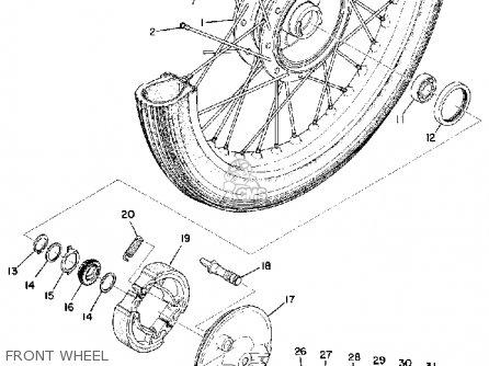 Yamaha U7e 1969 Front Wheel