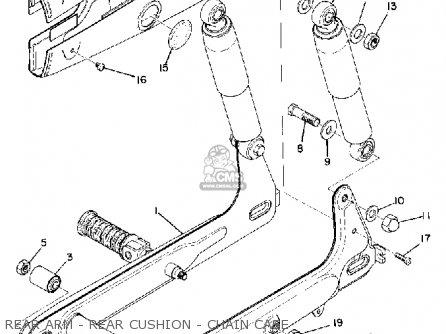 Yamaha U7e 1969 Rear Arm - Rear Cushion - Chain Case