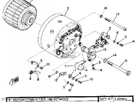 Yamaha U7e 1969 Starter Generator
