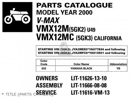 Yamaha V Max1200 V Max1200c 2000 Y Usa California Parts