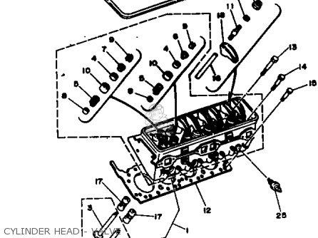 Yamaha V8 5 0 1990 Engine Parts Lists And Schematics