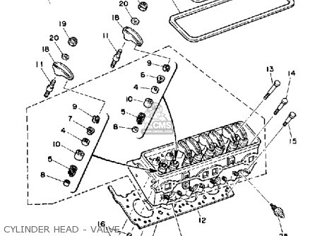 Yamaha V8 5 7 Yems 1990 Engine Parts Lists And Schematics