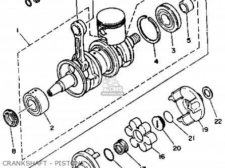 Yamaha Wb700r 1993 Crankshaft - Piston