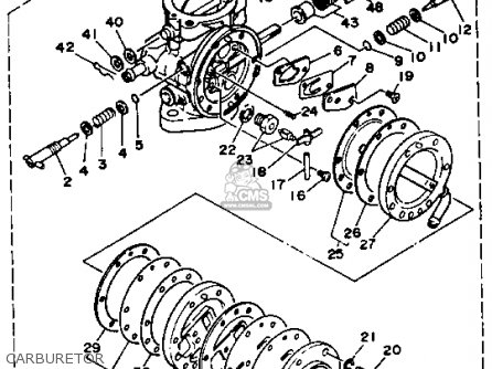 Yamaha WR500G 1987 1988 EU0 WAVERUNNER parts lists and