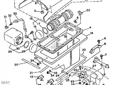 yamaha wrb650r 1993 fn8 waverunner parts lists and schematics Yamaha Waverunner Fuel Filter yamaha wrb650r 1993 fn8 waverunner seat