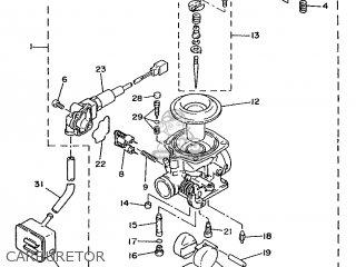 Yamaha Xc 1993 3te3 Germany 233te-332g2 Carburetor