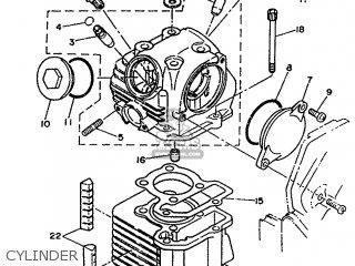 Yamaha Xc 1993 3te3 Germany 233te-332g2 Cylinder