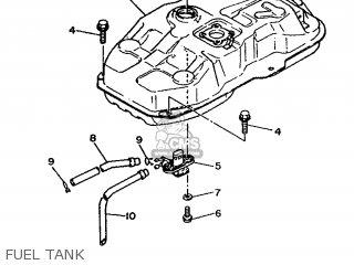 Yamaha Xc 1993 3te3 Germany 233te-332g2 Fuel Tank