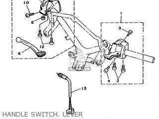 Yamaha Xc 1993 3te3 Germany 233te-332g2 Handle Switch  Lever