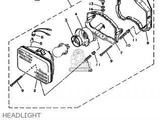 Yamaha Xc 1993 3te3 Germany 233te-332g2 Headlight