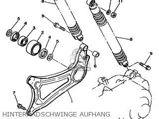 Yamaha Xc 1993 3te3 Germany 233te-332g2 Hinterradschwinge Aufhang