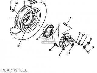 Yamaha Xc 1993 3te3 Germany 233te-332g2 Rear Wheel