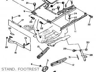 Yamaha Xc 1993 3te3 Germany 233te-332g2 Stand  Footrest