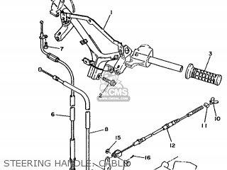 Yamaha Xc 1993 3te3 Germany 233te-332g2 Steering Handle  Cable