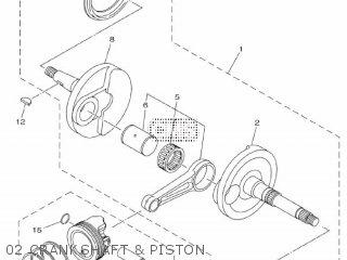 Yamaha Xc115s 2014 2ep1 Europe Delight 1n2ep-300e1 02 Crankshaft  Piston