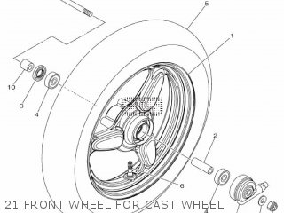 Yamaha Xc115s 2014 2ep1 Europe Delight 1n2ep-300e1 21 Front Wheel For Cast Wheel