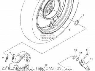 Yamaha Xc115s 2014 2ep1 Europe Delight 1n2ep-300e1 23 Rear Wheel For Cast Wheel