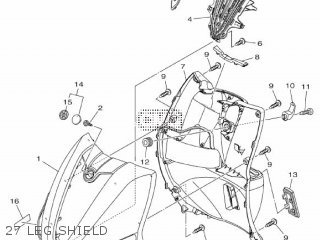 Yamaha Xc115s 2014 2ep1 Europe Delight 1n2ep-300e1 27 Leg Shield