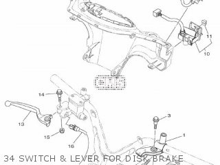 Yamaha Xc115s 2014 2ep1 Europe Delight 1n2ep-300e1 34 Switch  Lever For Disk Brake