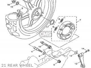 Yamaha Xf50 2009 15p5 Europe Giggle 1h15p-300e1 21 Rear Wheel